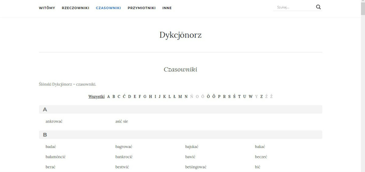 Dykcjonorz - słownik śląski