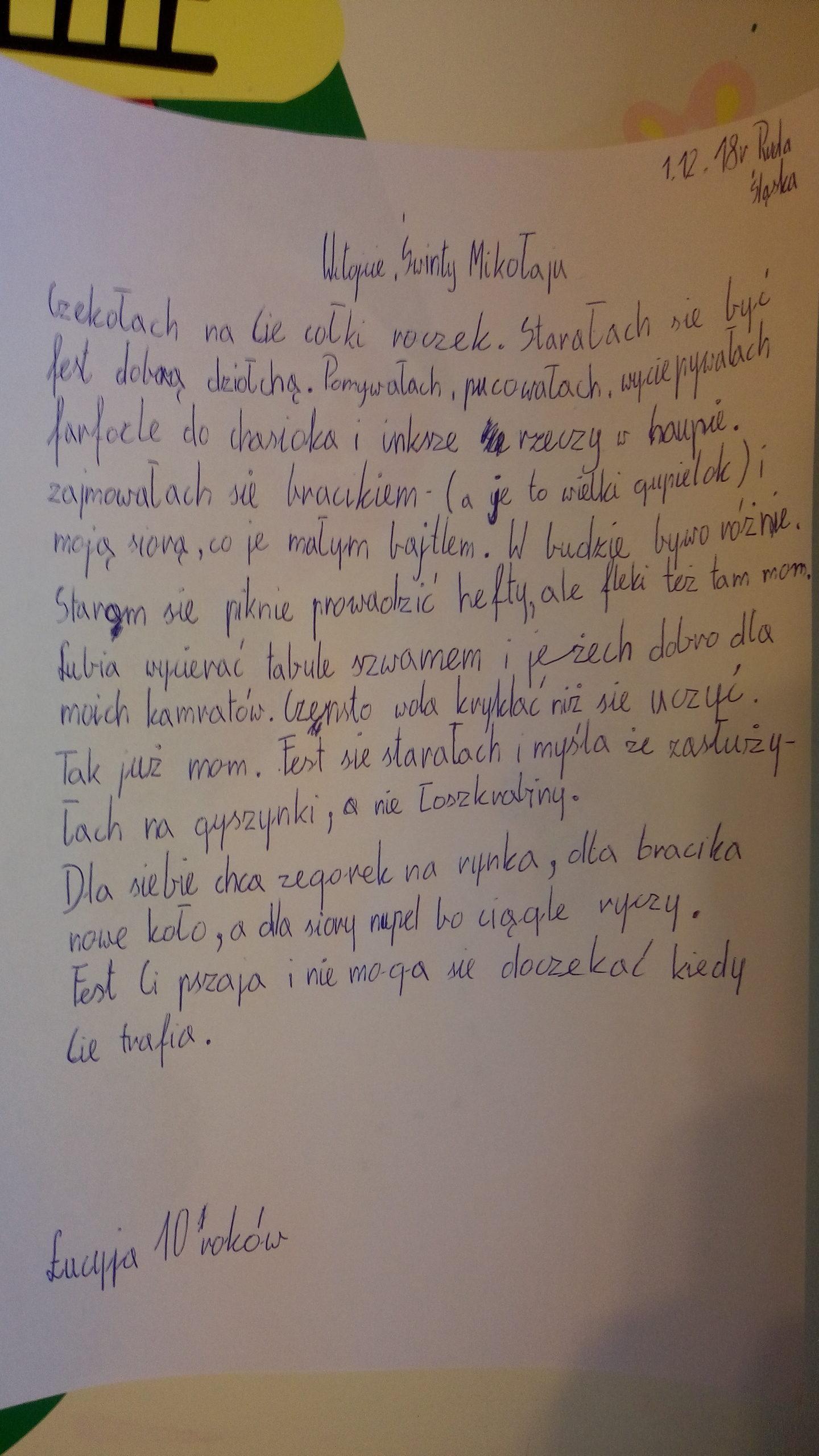 Listy Do św Mikołaja Po śląsku Portal Tuudinet